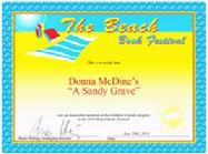 The Beach Book Festival Honorable Mention A Sandy Grave
