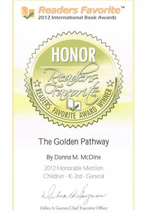 Reader's Favorite Honorable Mention 2012 - The Golden Pathway